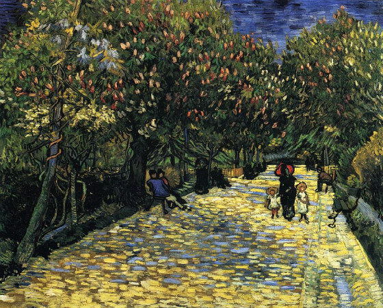 Vincent van Gogh, Avenue With Flowering Chestnut Trees, 1889