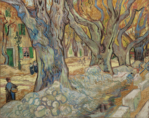 Vincent van Gogh, Large Plane Trees, 1889