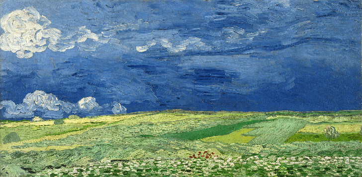 van gogh, Wheatfield Under Thunderclouds, 1890