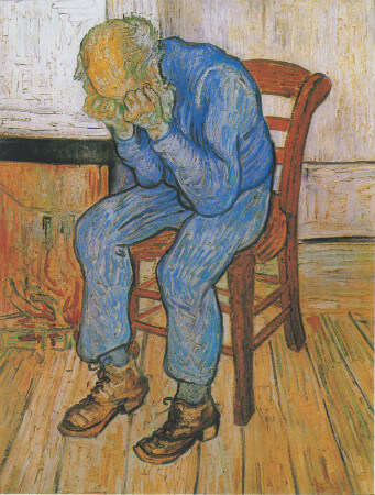 van gogh, old man in sorrow, 1890