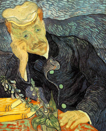van gogh, portrait of dr gachet, 1890