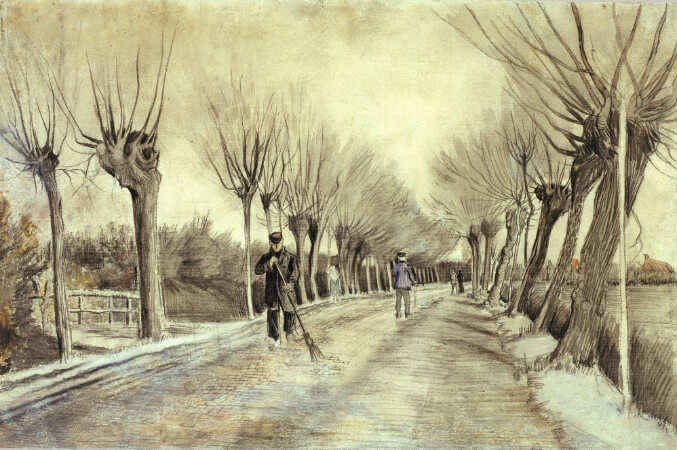van gogh, road in etten, 1881