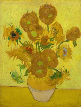 van gogh, sunflowers, 1889
