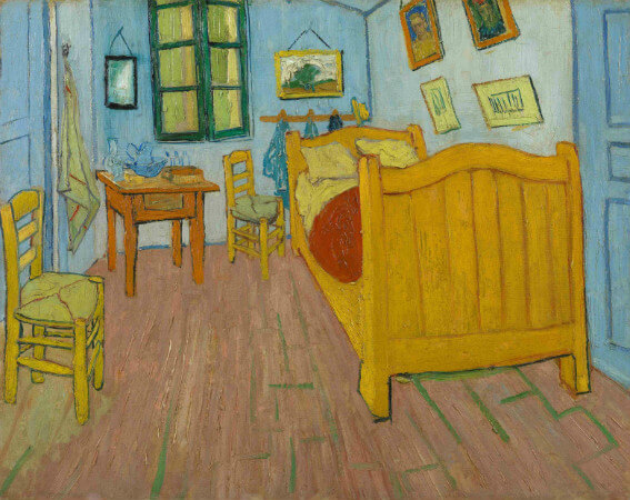 van gogh, the bedroom, 1888