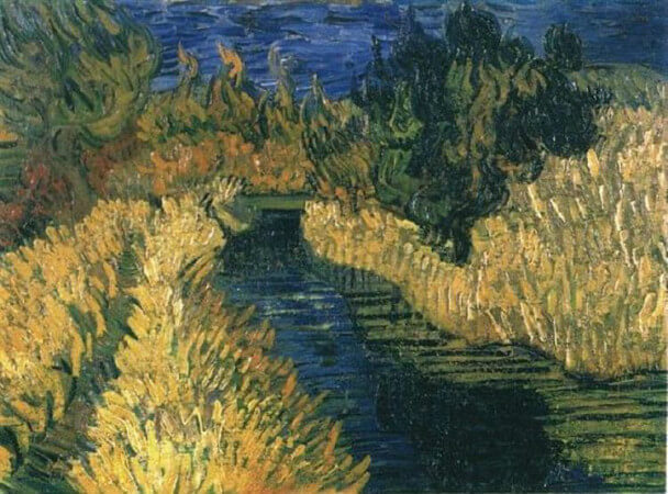 van gogh, the little stream, 1890
