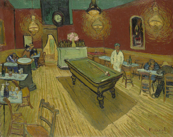 van gogh, the night cafe, 1888