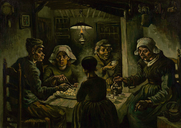 van gogh, the potato eaters, 1885