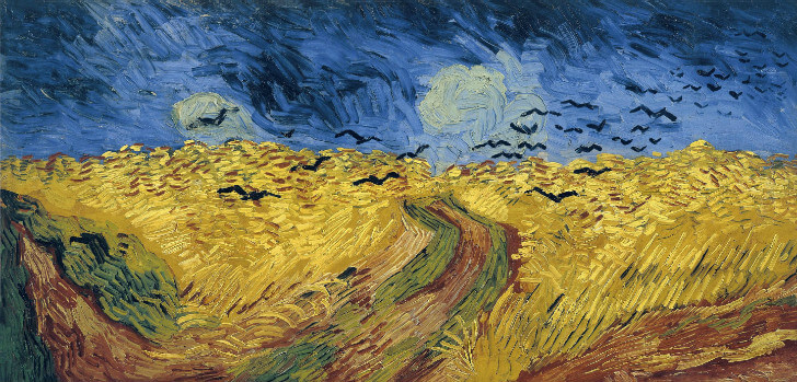 van gogh, wheatfield with crows, 1890