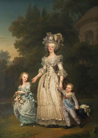 Adolf Ulrik Wertmuller, Queen Marie Antoinette of France and Two of Her Children, 1785