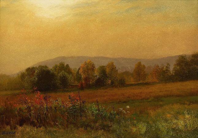 Albert Bierstadt, Autumn Landscape, 1880