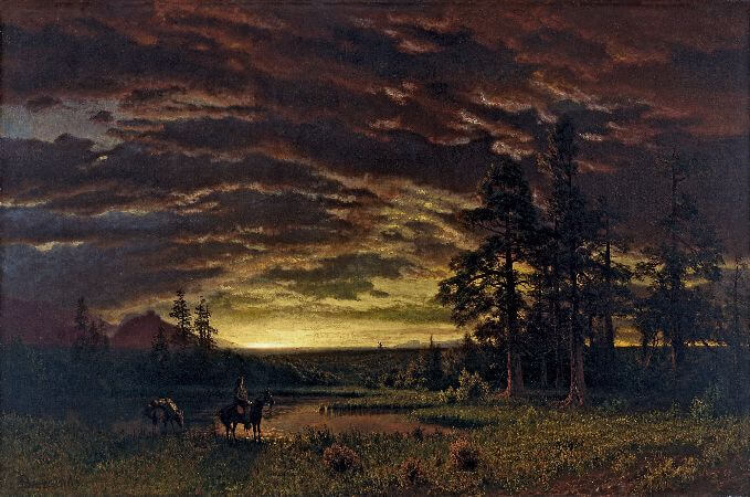Albert Bierstadt, Evening