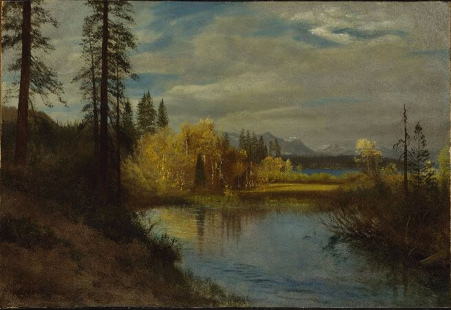 Albert Bierstadt, Outlet At Lake Tahoe