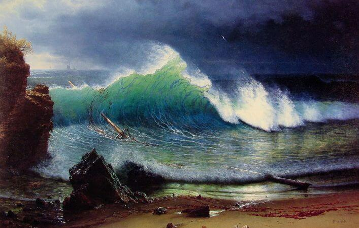 Albert Bierstadt, Shore Of Turquoise Sea, 1878