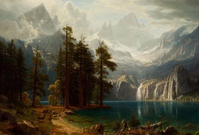 Albert Bierstadt, Sierra Nevada, 1873