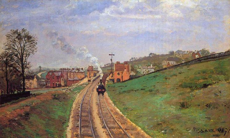 Camille Pissarro, Lordship Lane Station, Dulwich, 1871