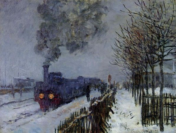 Claude Monet, Train in The Snow, 1875