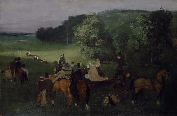 Edgar Degas, At The Racecourse, 1862