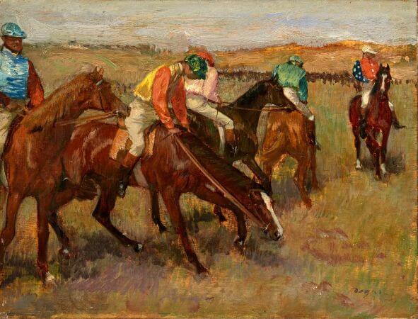 Edgar Degas - Before The Race - 1882
