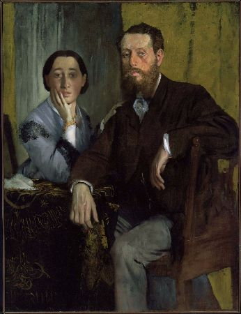 Edgar Degas - Edmondo and Therese Morbilli - 1865