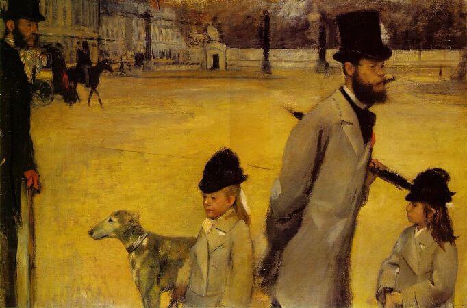 Edgar Degas - Place de la Concorde - 1875