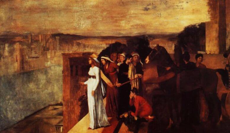Edgar Degas, Semiramis Building Babylon, 1861