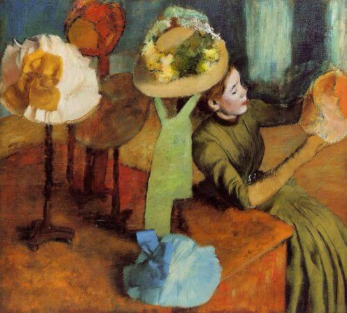 Edgar Degas - The Millinery Shop, 1886