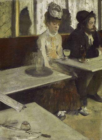 Edgar Degas - in A Cafe