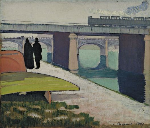 Emile Bernard, iron Bridges at Asnieres, 1887