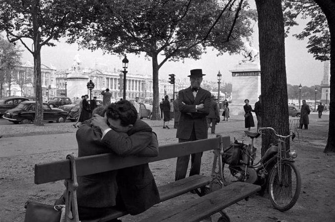Erich Lessing, Fransa, Champs-Elysees, 1954