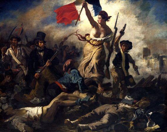 Eugene Delacroix, La Liberte Guidant Le Peuple, 1830