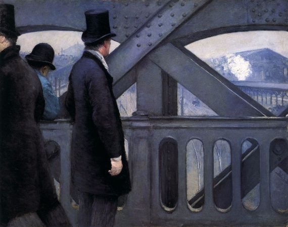 Gustave Caillebotte, On The Pont de l'Europe, 1876