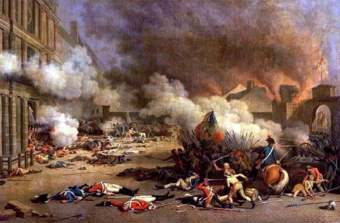 Jean Duplessis-Bertaux, La Prise du Palais des Tuileries, 1795