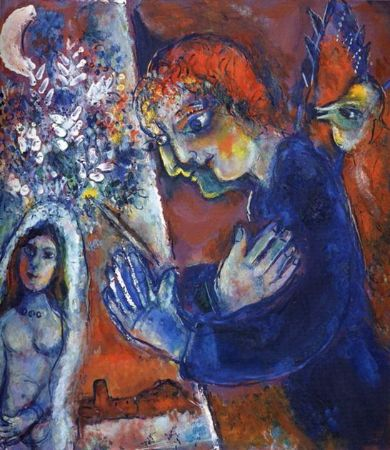 Marc Chagall, Artist At Easel, 1959