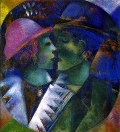 Marc Chagall, Green Lovers, 1915