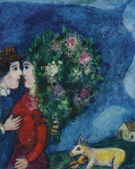 Marc Chagall, Les Amoureux Au Bouquet, ete, 1927 - 1930