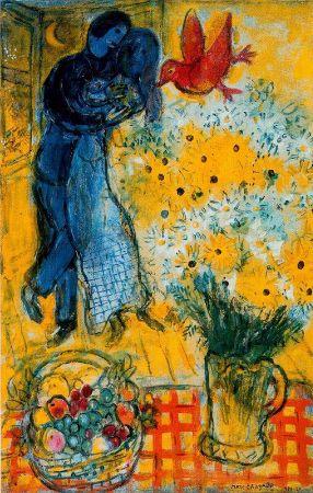 Marc Chagall, Les Amoureux aux Marguerites, 1958
