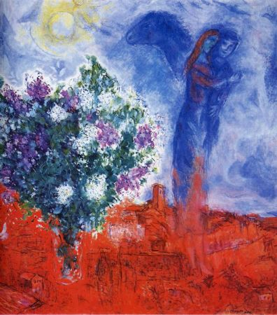 Marc Chagall, Lovers Over Saint-Paul, 1970-71