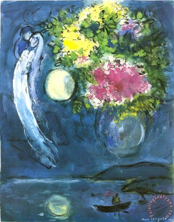 Marc Chagall, Lovers With Bouquet, 1949