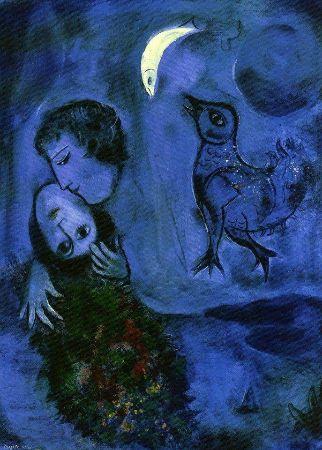 Marc Chagall, Paysage Bleu (Blue Landscape), 1949