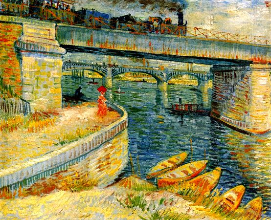 Vincent van Gogh, Bridges Across The Seine At Asnieres, 1887