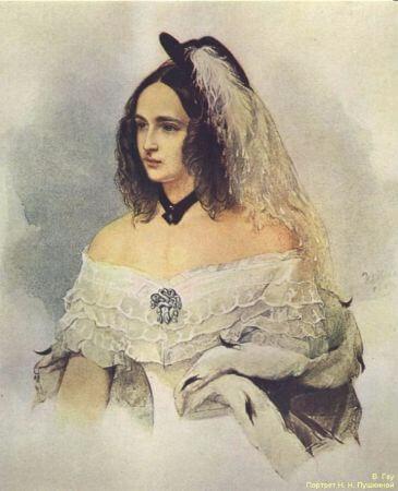Vladimir Hau, Portrait of Natalya Nikolayevna Goncarova