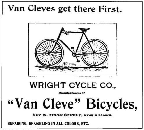 Wright Kardeslerin Van Cleve model bisikleti, 1897
