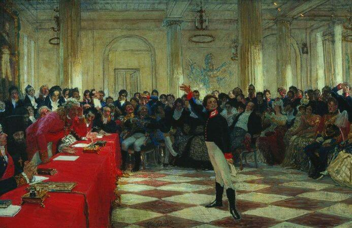 ilya Repin, Lyceum Speech Day, 1911