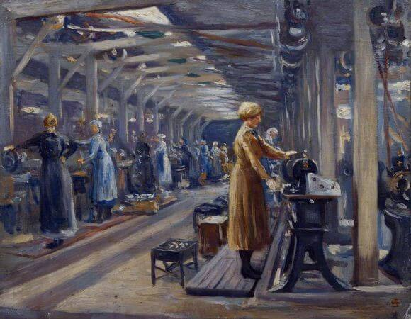 Edgar Seligman, The Belgian Steel Factory, Goldhawk Road, 1918