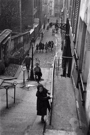 Edouard Boubat, Stairway in Montmartre, Paris, 1952