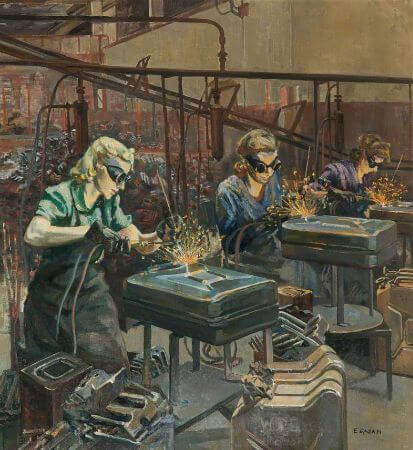 Ethel Leontine Gabain, Women Welders at Williams and Williams