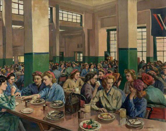 Ethel Leontine Gabain, Women Workers in The Canteen At Williams
