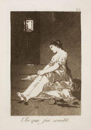 Francisco Goya, Capricho 32, Porque fue sensible