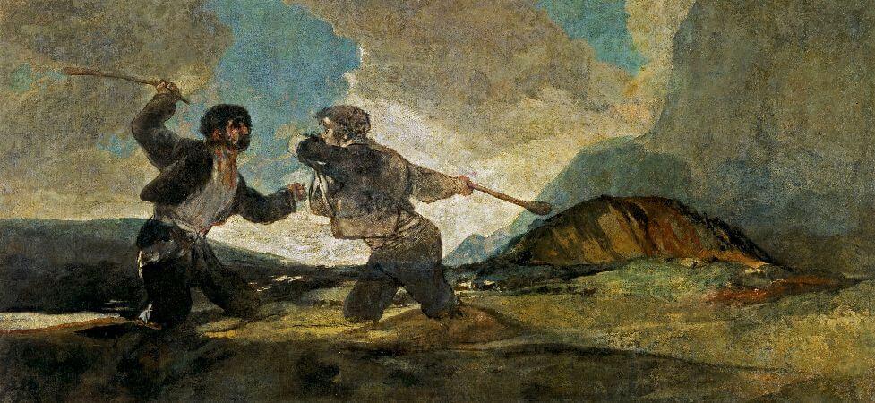 Francisco Goya, Duelo a garrotazos (Dos forasteros)