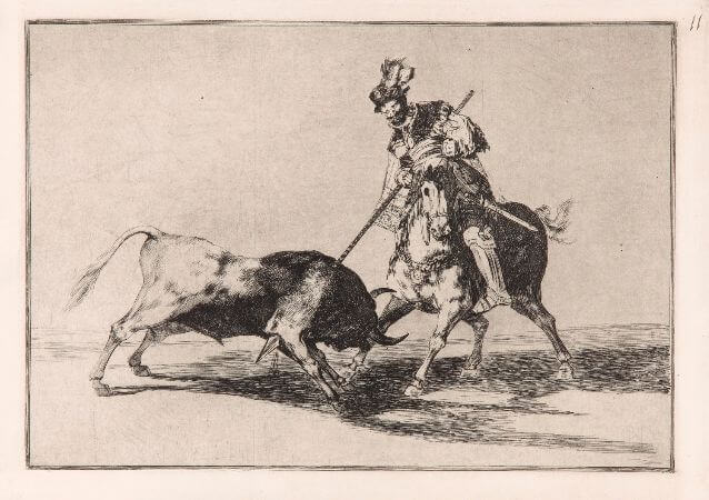 Francisco Goya, El Cid Campeador Lanceando Otro Toro